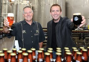 Steve Wagner, left, and Greg Koch lead Stone Brewing Co. of Escondido. The craft beer maker is one of the county's fastest-growing private companies.