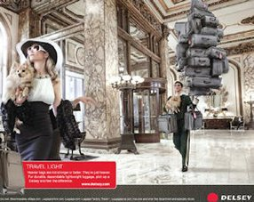 Delsey: full-page ad in Elle gets back to luxury