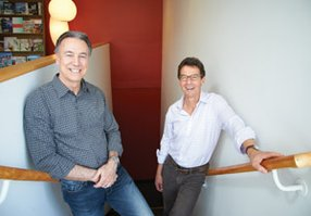 Peter Garcia, left, and partner David Malmuth, president of Idea partners, are part of a growing trend toward mixed-use developments in urban areas. Idea Partners has plans to develop the upper East Village in downtown San Diego into a design district. 