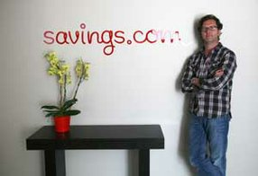 Loren Bendele, co-founder of Savings.com, at the online company's headquarters in Santa Monica.