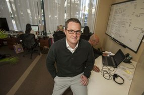 Co-founder Matthew Mitchell at MediaPass' West L.A. headquarters.