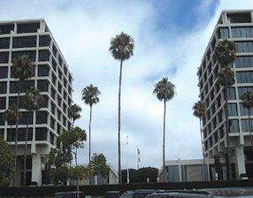 520 Newport Center Drive: developer's headquarters in building to left of site