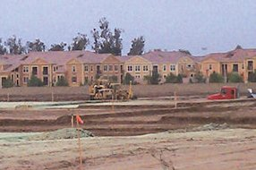 Cypress Village: site of future homes, which will be built alongside apartments that opened this year