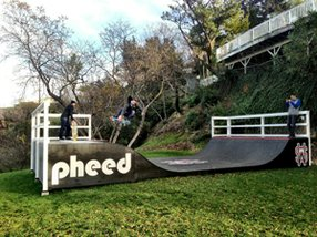 A skate ramp in the backyard of the &quot;Pheed House&quot; on Mulholland Drive. Photo courtesy of Pheed. 