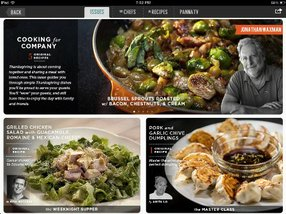 The Panna cooking app for the iPad.
