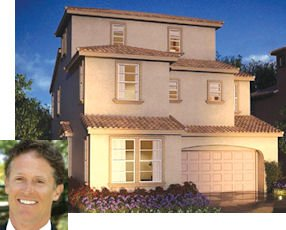 Atkins: chairman cofounded builder (inset).  Garden Grove Collection: infill project totals 56 homes, price in $600,000s