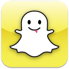 The Snapchat icon is a ghost named Ghostface Chillah.