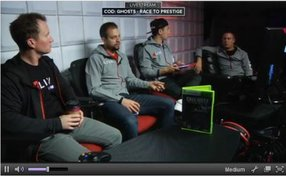 """A photo from Machinima's streaming video channel on Twitch, which launched this week with a marathon of """"Call of Duty: Ghosts."""""""