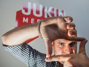 'Fail' Success: Chief Executive Jonathan Skogmo at Jukin's Culver City Office.