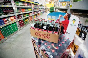 Bubbling Up: Case of Mexican Coca-Cola at a Food 4 Less in Torrance.