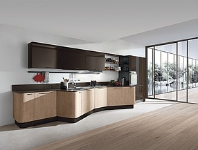 The first u s flagship showroom for italian kitchen for Aran world kitchen cabinets