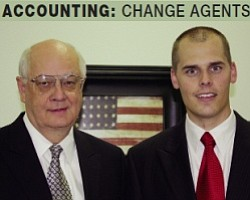 Generations: Gary Condie (left) is grooming nephew Jace Katseanes to head the firm.