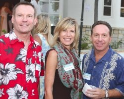 An Evening for Autism: Saywitz, right, with Mark Whitley and Debby Boone, hosts fundraiser at his home