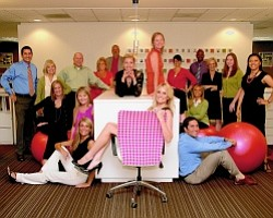 Creative bunch: some of Gensler's Newport Beach workers