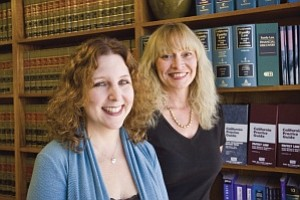 Specialists: Attorneys Cari M. Pines, left, and Donna Laurent in their offices in Encino.