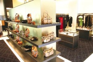 Valentino store at South Coast Plaza: luxury shopping took a hit