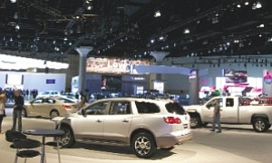 Wheels: Car makers showed off their new vehicles at the Los Angeles Auto Show.