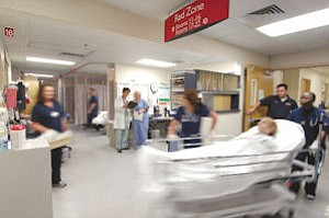 Busy: Antelope Valley Hospital is nearing approval on joining the county's trauma system.