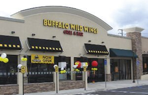 Buffalo Wild Wings at Lake Forest Gateway: mall undergoing renovation