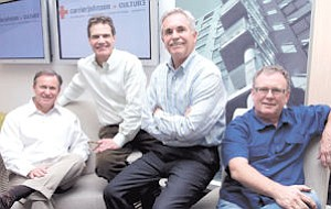 From left, Michael Johnson, Gordon Carrier, Mike LaBarre and Frank Wolden are principals of the new Carrier Johnson + CULTURE architectural firm.