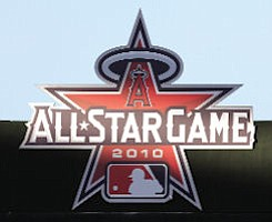 All-Star logo at Angel Stadium: game set for July 13