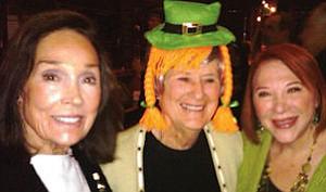 "Lasses Elaine Weinberg, Judy Rosener, Gloria Zigner at Aitken Aitken Cohn ""St. Patrick's Celtic gathering"" at Muldoon's Irish Pub, Newport Center"