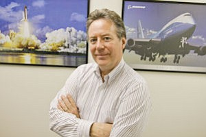 Service: Terry Hampton found designing medical devices is not much different than aircraft.