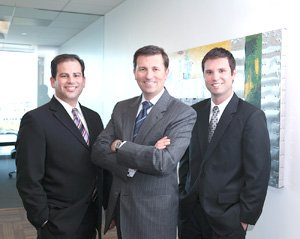 From left, Marc Channick, Keith McKenzie and Darren Reinig are the founding partners of Delphi Private Advisors, an independent registered investment adviser.