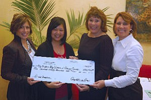 Pame Schmider, left, Darlene Gan, Moira Auld, Kelly Mazzo: helped raise $270,000 for Big Brothers Big Sisters
