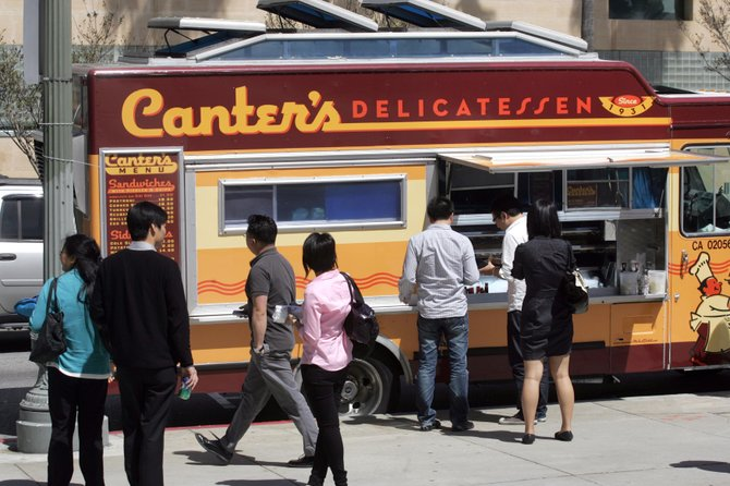 Canter's deli truck parked on the Miracle Mile