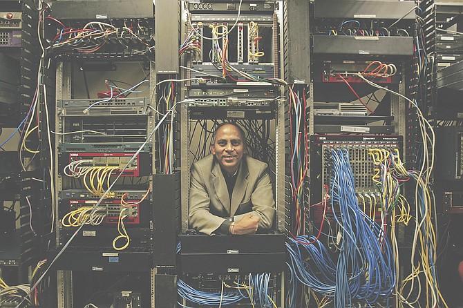 Atul Bhatnagar, chief executive of Ixia, at the network test maker's Calabasas headquarters.