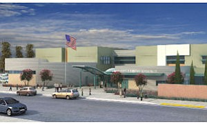 Rendering of LAUSD's Valley Region Elementary School No. 13 in Panorama City.