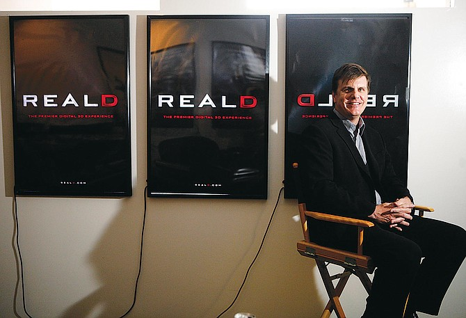 Chief Executive Michael Lewis at the Beverly Hills office of RealD, which is planning to go public.