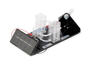 The image above shows one of the Fuel Cell Store's top-selling educational kits, called the Junior Basic. It is a working model of the solar hydrogen cycle.