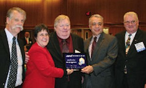 Rock Miller, left, Lisa Ann Rapp, Ron Keith, Kia Mortazavi, Larry Koehle: OCTA received project of the year award for traffic signal plan