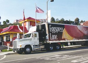 Golden State Foods truck at McDonald's: company buoyed by fast food growth during downturn