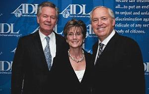 Honorees of Anti-Defamation League's Marcus Kaufman Jurisprudence Awards: Mark Minyard, left, Martha Gooding, William S. O'Hare