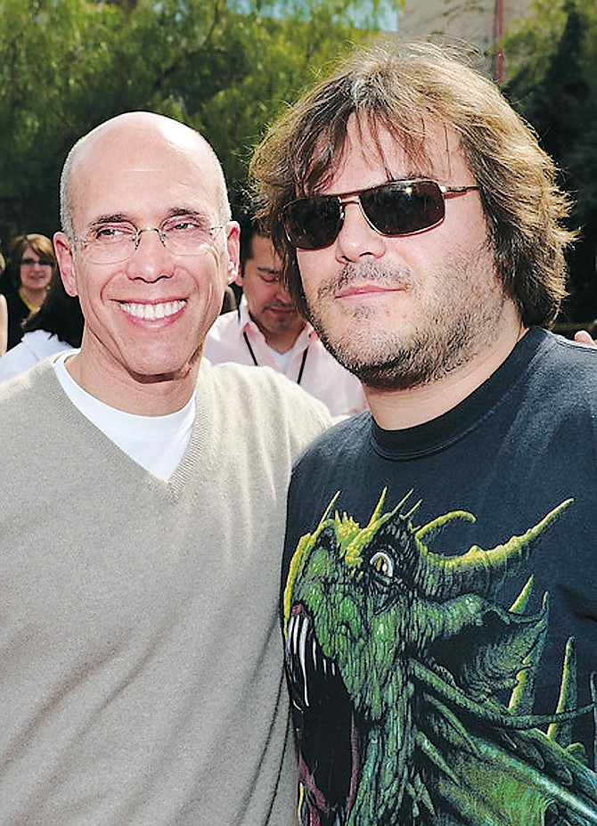 Katzenberg with actor Jack Black.