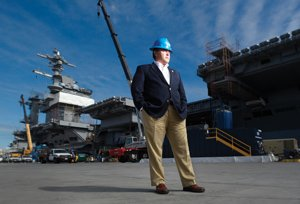 Eric Stenman is president of Barnhart Balfour Beatty, a local construction firm that made ship-berth improvements for the recently arrived USS Carl Vinson aircraft carrier.
