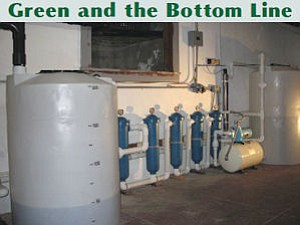 High-tech: Purification system from Gray Water Recycling Systems.