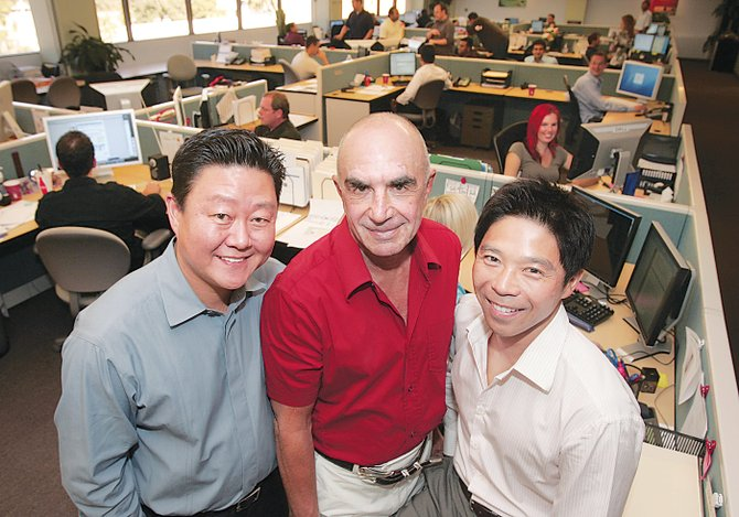 From left, LegalZoom co-founders Brian Lee, Robert Shapiro and Brian Liu.