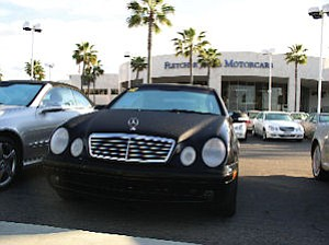 Fletcher Jones in Newport Beach: dealership undergoing Mercedes-Benz mandated facelift