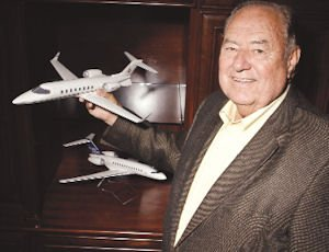 Plane: Lacy introduced corporate jets to the Valley.