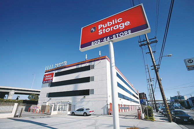 An L.A. facility of Public Storage, which has seen its stock price increase 50 percent since last summer.