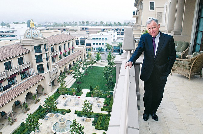 Ali Kasikci, Montage Hotels & Resorts vice president, on the balcony of a residence at Montage Beverly Hills.