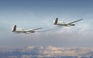 Northrop Grumman will be demonstrating aerial refueling of a NASA Global Hawk unmanned aerial vehicle by a sister ship.