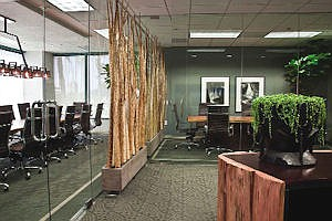 RiverRock's Newport Beach office: uses natural lighting, recycled materials