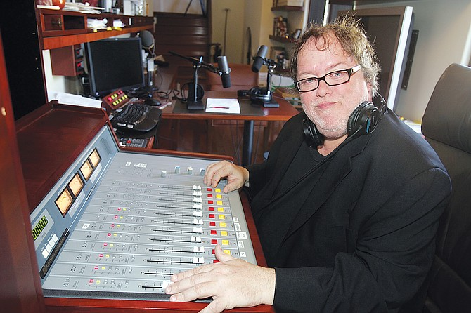 New Normal founder Tom Leykis at his Hollywood Hills home studio.