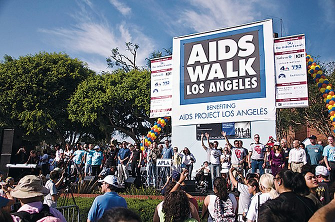 AIDS Project Los Angeles' AIDS Walk event.