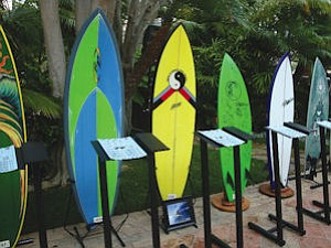 "Surfboard auction at Waterman's Ball: industry seeing ""little"" turnaround this year"